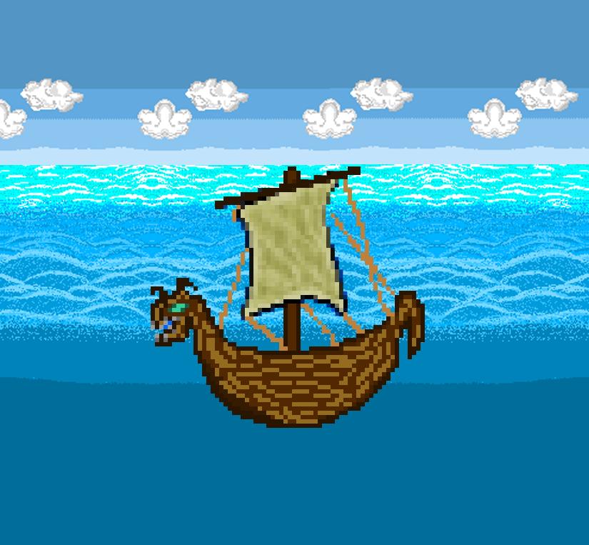 New naval ship viking style